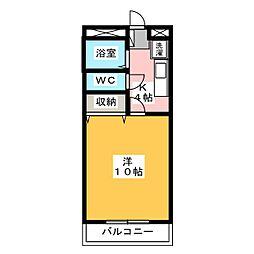 コスモス佐鳴台[2階]の間取り