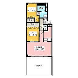 ウッドヴィレッジ[1階]の間取り
