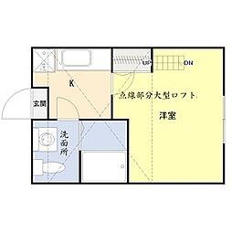 東京都足立区西新井本町5丁目の賃貸アパートの間取り