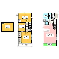 [テラスハウス] 愛知県名古屋市瑞穂区東栄町5丁目 の賃貸【/】の間取り