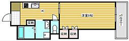 P-Flat天下茶屋[2階]の間取り
