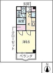 Enamユーアイ[2階]の間取り