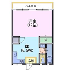 三宅マンション[4階]の間取り