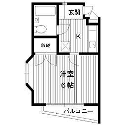 東京都練馬区春日町1丁目の賃貸アパートの間取り
