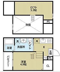 sofitel西田町(ソフィテルニシダチョウ)[2階]の間取り