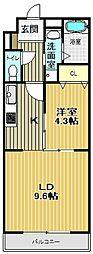 Opuus One Nisinomiya[4階]の間取り