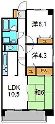 パークサイド守口[7階]の間取り