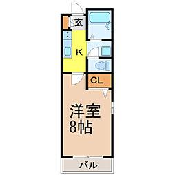 愛知県名古屋市昭和区広路通6丁目の賃貸マンションの間取り