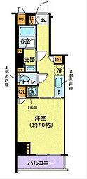 新交通ゆりかもめ 芝浦ふ頭駅 徒歩7分の賃貸マンション 3階1Kの間取り