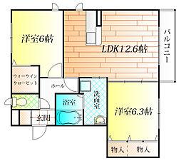 ガーデンフォーレスト[2階]の間取り