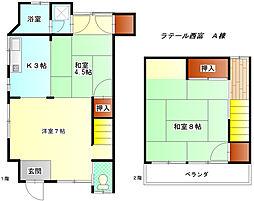 [一戸建] 神奈川県藤沢市西富1丁目 の賃貸【/】の間取り