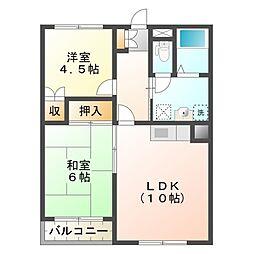 タカギ津田塾マンション[2階]の間取り