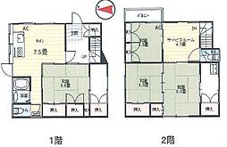 [一戸建] 神奈川県横須賀市上町1丁目 の賃貸【/】の間取り