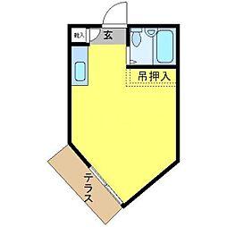 パールハイツ増渕[205号室]の間取り
