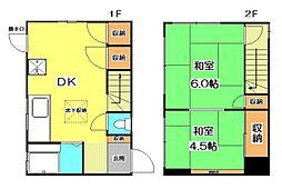 [一戸建] 東京都東久留米市浅間町2丁目 の賃貸【/】の間取り