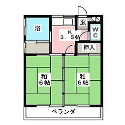 山田アパート[2階]の間取り