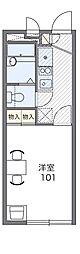 京阪本線 門真市駅 徒歩21分の賃貸アパート 2階1Kの間取り