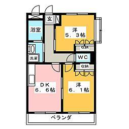 静岡県静岡市葵区羽鳥7丁目の賃貸マンションの間取り