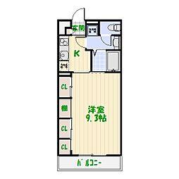 東京都葛飾区東四つ木1丁目の賃貸マンションの間取り