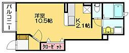 アグレアブルハウス桜[1階]の間取り