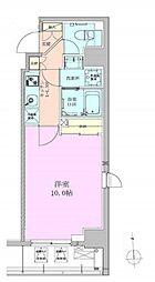 JR京葉線 八丁堀駅 徒歩2分の賃貸マンション 4階1Kの間取り