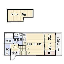 FAMILY STAGE川名I(ファミリーステージカワナワン[1階]の間取り