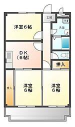 グランパレス五井[2階]の間取り