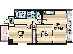 グランシャリオ江坂[5階]の間取り