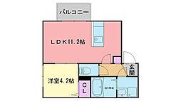 クレオン姪浜壱番館[2階]の間取り