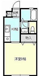 ジュネス湘南 B[1号室]の間取り