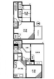 [一戸建] 東京都葛飾区東新小岩4丁目 の賃貸【/】の間取り