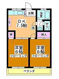 第2藤野マンション[102号室]の間取り