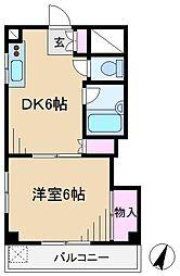 寿ハイツ[1階]の間取り