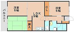 福岡県春日市宝町4丁目の賃貸マンションの間取り