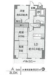 ラフィーネ武庫之荘[202号室]の間取り