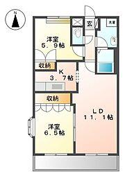 リッチーヒル[2階]の間取り