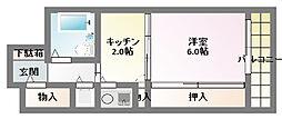 ル モンド兵庫[7階]の間取り
