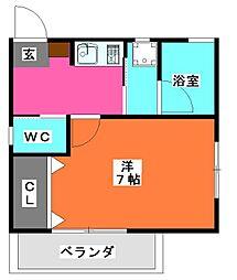 パーシモンハウス[2階]の間取り