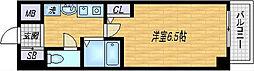 エスリード東天満第2[8階]の間取り