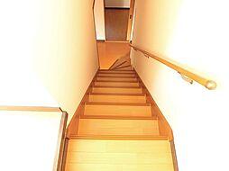 階段を2階から...