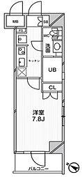 エルスタンザ文京千駄木 2階1Kの間取り