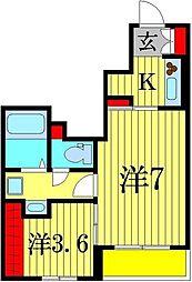 ウイラニ ホヌ 1階2Kの間取り