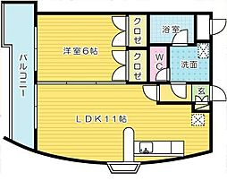 ウィルステージ古船場[13階]の間取り