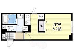 FABRIC菊川 2階1Kの間取り