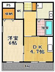 YUWA Seta(ユーワセタ)[201号室]の間取り