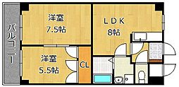 ロイヤルエレガンス[12階]の間取り