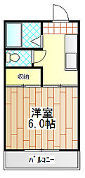 神奈川県厚木市寿町3丁目の賃貸マンションの間取り