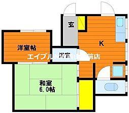 鳥山アパート6-7II-C[2階]の間取り