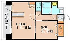 ツインリバールーチェ[3階]の間取り