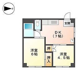 ファースト徳川[3階]の間取り